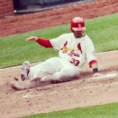 Dirty Dan sliding into home 4/13. Photo by Malory