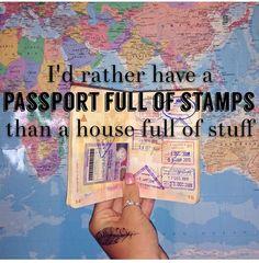 Passport full of stamps