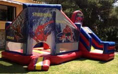 Fiestas infantiles Malaga  Castillo hinchable Spider man. www.telecastillo.com