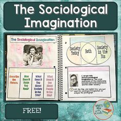 Use this hands-on activity to introduce the concept of The Sociological Imagination to your students.  There are three foldable graphic organizers, an answer key, and an implementation page. This is part of my Sociological Perspectives Interactive Notebook Bundle(a complete unit).If you like this, be sure to check out my other sociology products.