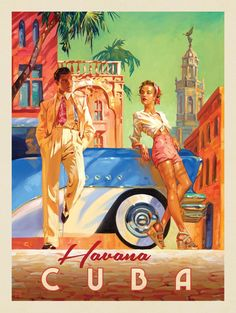 Cuba: Havana Shade - This series of romantic travel art is made from original oi. - Cuba: Havana Shade – This series of romantic travel art is made from original oil paintings by ar -