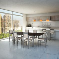 AMISCO - Zoom Table (50522) - Furniture - Kitchen - Urban collection - Contemporary - Extensible Table