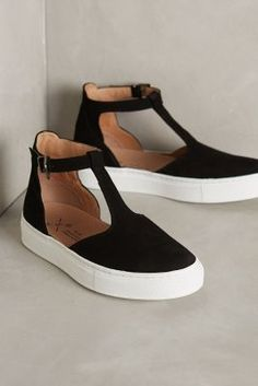 KMB T-Strap Sneakers Black Sneakers #anthrofave