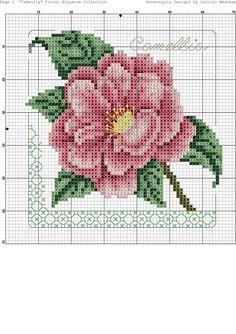 2<>3 Cross Stitch Rose, Cross Stitch Flowers, Cross Stitch Charts, Cross Stitch Designs, Cross Stitch Patterns, Cross Stitching, Cross Stitch Embroidery, Hand Embroidery, Christmas Embroidery Patterns