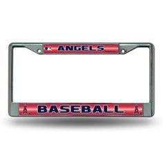 Los Angeles Angels MLB Bling Glitter Chrome License Plate Frame