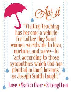 April Visiting Teaching