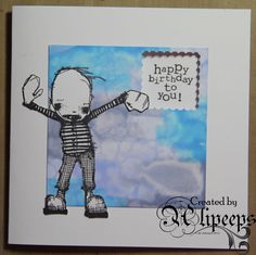 Artwork created by Alipeeps using rubber stamps designed by Daniel Torrente for Stampotique Originals