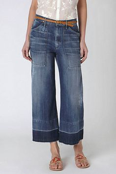 Collection Cropped Wide Leg Jeans Pictures - Reikian