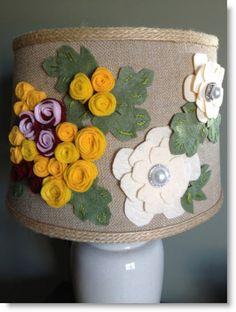 DIY Anthropologie Style Lamp – Felted Flower Goodness · Felting | CraftGossip.com