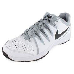 TheNikeMen's Vapor Court Tennis Shoes Whitewere created for recreational players who want lightweight speed in an affordable package. The natural motion of your gait is enhanced by the shoe's construction, leaving you with a smooth, nimble ride all match long.#nike #tennisshoes #wimbledon #endlesstennis