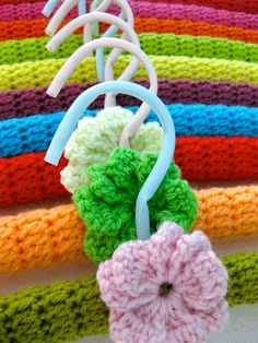 Cute crocheted hanger