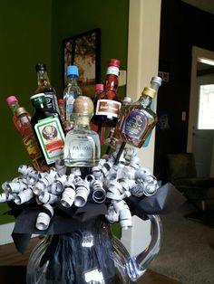 alcohol bouquet holidays pinterest witzige. Black Bedroom Furniture Sets. Home Design Ideas
