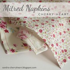 Sew Napkins with a Mitred Edge - Photo by Sandra Paul (HobbyFarms.com)
