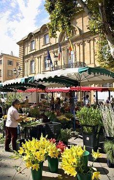 Flower market, Aix-en-Provence, France