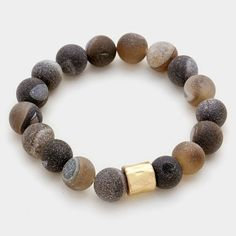 {Semi Precious Stone Beaded Bracelet}