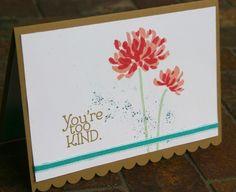 "Stampin' Up ""Too Kind"" handmade card"