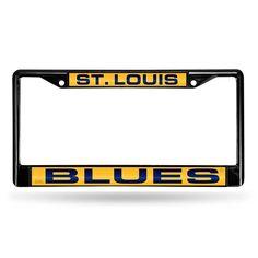 St. Louis Blues NHL Laser Cut Black License Plate Frame