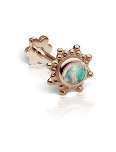 2.75mm Opal Starburst Threaded Stud (Helix) | Helix Jewelry