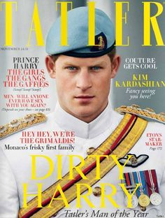 We all know he's a very naughty boy....but this is a really good photograph of him.  And on the cover of Tatler, of all things!