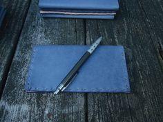 CSherwoodLeather Blue Basic Checkbook Cover by CSherwoodLeather