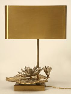 """Maison Charles """"Water Lily"""" Lamp in Doré Bronze 