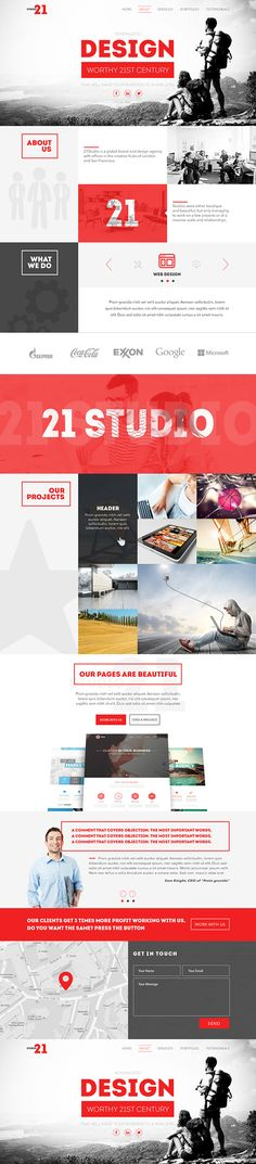 21 Studio - Creative One Page PSD Template on Behance
