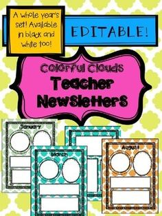 In The Packet You Will Get A Years Set Of Colorful Cloud Newsletters Last