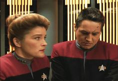 Dedicated to the road that The Powers That Be did not boldly take for Star Trek: Voyager. tags / ask. Robert Beltran, Captain Janeway, Kate Mulgrew, Star Trek Series, Four Year Old, Star Trek Voyager, Sci Fi Fantasy, Her Smile, Stupid Funny