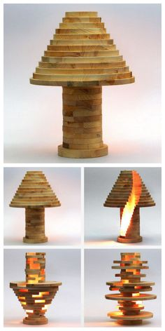 DIY Stacked Lamp Tutorial and Templates from mikeasuraus at Instructables.  This $15 DIY Stacked Lamp, made of wood slices, is an inspired version of DesignMID's $750 Babele lamp.  If you want to use the provided templates for the DIY Stacked lamp, you can skip to Step #15 and the tutorial doesn't seem so daunting. This is a doable DIY as long you have the right tools. Make sure to check out finished versions by readers in the comment section at the link.  For a huge archive of DIY…