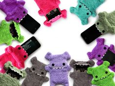 Monster cell phone holders... You can buy them here, but I want to make one!