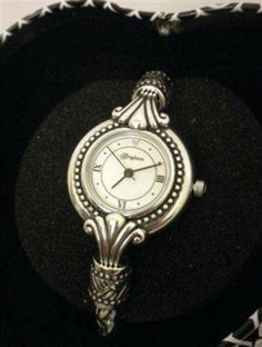 Brighton Calgary Quartz Rope Chain Bracelet Toggle Watch Roman Numeral W3180 NWT Tin