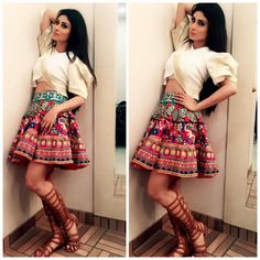 Here is The 10 Unseen Pics of Nagini Sun Tv Serial Actress Mouni Roy is an Indian television actress. Indian Gowns Dresses, Indian Fashion Dresses, Indian Designer Outfits, Indian Outfits, Skirt Fashion, Fashion Outfits, Stylish Dress Designs, Stylish Dresses, Mouni Roy Dresses