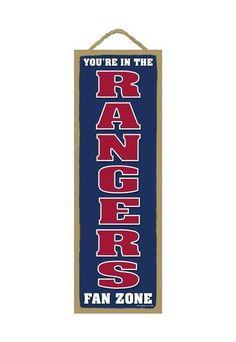 Texas Rangers Fan Zone Wood Sign