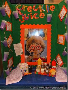 Instead of a science fair...a reading fair! This is a FABULOUS idea for Reading Night or a display of favorite books for Media Center. Could even make mini boards for book report, place on desktops, and let students take a tour of classroom. GREAT for review of narrative elements or even character close up!!!