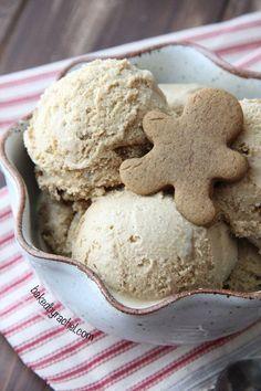 Gingerbread Cookie Crunch Ice Cream Recipe from /bakedbyrachel/