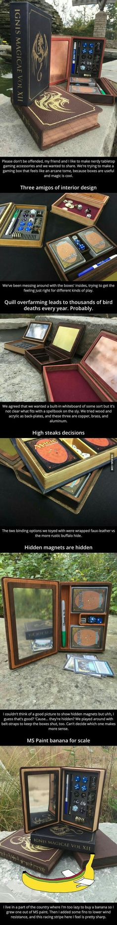 This is a Asome Idea Magic the Gathering Book Holder