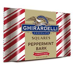 Ghirardelli Giant Peppermint Bark Square Gift 10oz Ghirardelli Chocolate Squares, Peppermint Bark, Natural Flavors, Gourmet Recipes, Christmas, Gifts, Yummy Food, Dessert, Holidays