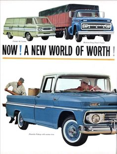 Now A New World Of Worth 62 Chevrolet Jobmaster Trucks With New