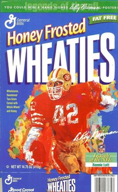 Ronnie lott wheaties cereal box leroy neiman art nfl football san francisco 49er  sc 1 st  Pinterest & Wheaties Boxes Collector Prices | ... 2600+ Pictures n Values by ... Aboutintivar.Com