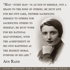 "Ayn Rand- loved by ""individualists"" and the Republican Party. Author of ""The Fountainhead"" and ""Atlas Shrugged""; proponent of Laissez-Faire capitalism and the philosophy of everyone for themselves, with no moral obligation to anyone other than yourself. Yeah, this really sounds compatible with the teachings of Christ. Though she considered the poor parasites, near the end of her life, she was poor herself and depended on Social Security to survive."