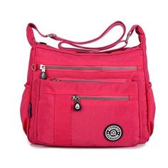 Jinqiaoer Women Nylon Casual Waterproof Multi-pocket Shoulder Bags Crossbody Bags