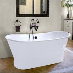 Have to have it. Cheviot Balmoral 66 in. Double Ended Cast Iron Freestanding Tub $4209.99