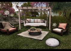 The Home Show - floorplan - garden daybed - floral & Trompe Loeil - Pallet Chair Brown & Cheeky Pea -  Deconstructed Coffee Table