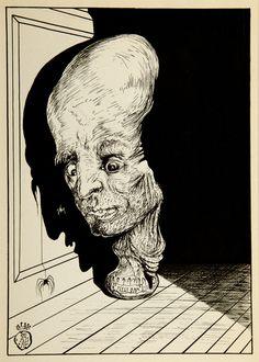 Salvador Dali, A Slow Motion Crime (1944) [From Fantastic Memories by Maurice Sandoz Illustrated by Salvador Dali] #drawing #art #artmarket #limitededition #artistoftheday #fineart #buyart #dali #illustration #surrealism