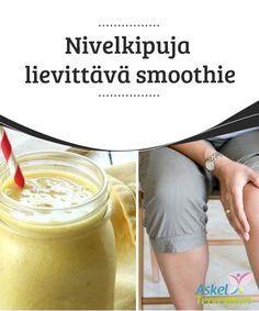 Nivelkipuja lievittävä smoothie Tämä smoothie on #herkullinen hoito #tulehtuneisuuden #lievittämiseksi. #Luontaishoidot Juice Smoothie, Smoothie Drinks, Smoothies, Healthy Drinks, Healthy Snacks, Creme Brulee, Medicinal Plants, Food Inspiration, Healthy Living