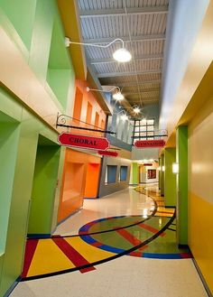 Most amazing school hallway EVER!                                                                                                                                                      More