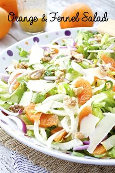 A fresh and healthy spring salad that is perfect as is or topped with grilled chicken or shrimp. The zesty citrus vinaigrette is so tasty that you'll be making it for all sorts of salads!