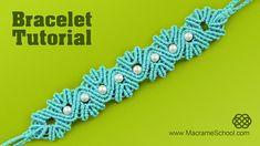 Yarn Shell Bracelet with Pearls #Macrame #Yarn #Bracelet #Tutorial #FreeTutorial #DIY