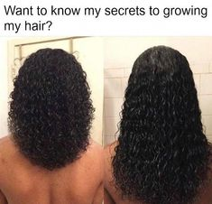 Hair growth secrets to properly care and grow hair longer and faster - [ Today, I am sharing my diy hair growth recipes . Help Hair Grow, How To Grow Your Hair Faster, Grow Long Hair, Natural Hair Growth Tips, How To Grow Natural Hair, Natural Hair Styles, Diy Hair Growth, Relaxed Hair Growth, Hair Growth Shampoo