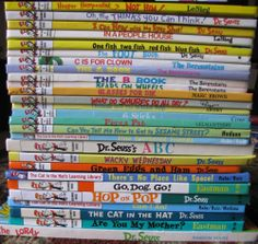 Dr. Seuss Lot 27 HC Books Cat in the Hat Bright and Early Books Hop on Pop Lorax